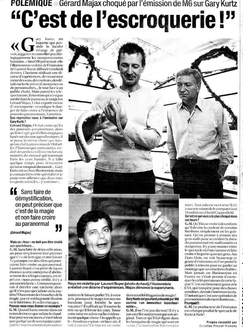 Article Gary Kurtz - France Soir 2004/01/06